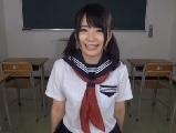 木村つな可愛い美尻制服女子のディルドオナニー