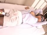 保健室で休む美人先生を縛り付けて電マで責めてハメちゃう男子生徒