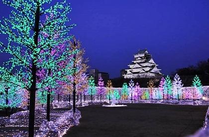 大阪城イルミ3
