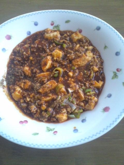 1年半前に賞味期限の切れた麻婆豆腐の素で作った麻婆豆腐