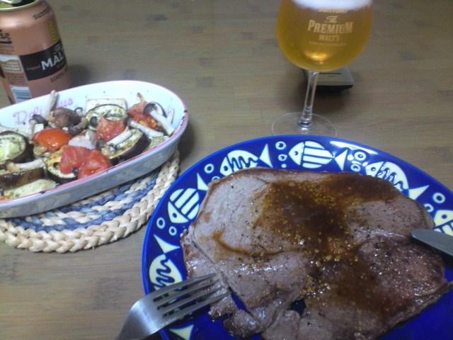 肉と野菜のオイル焼き