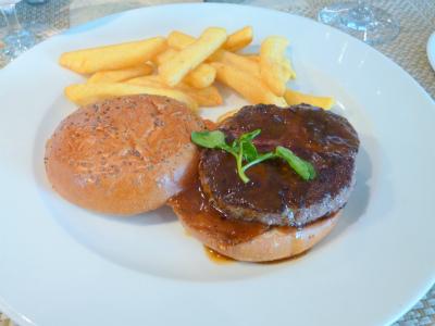 神戸ビーフのハンバーガー