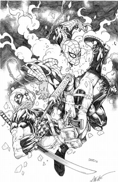 Deadpool vs Spidey