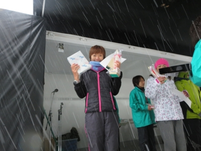 北海道ロードレース、トキちゃん優勝!