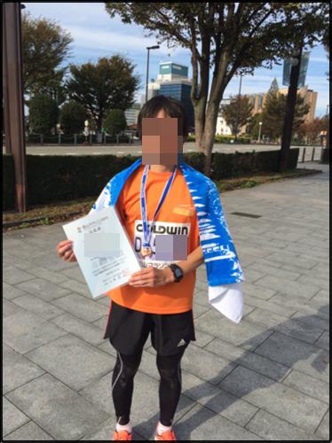 富山マラソン完走後