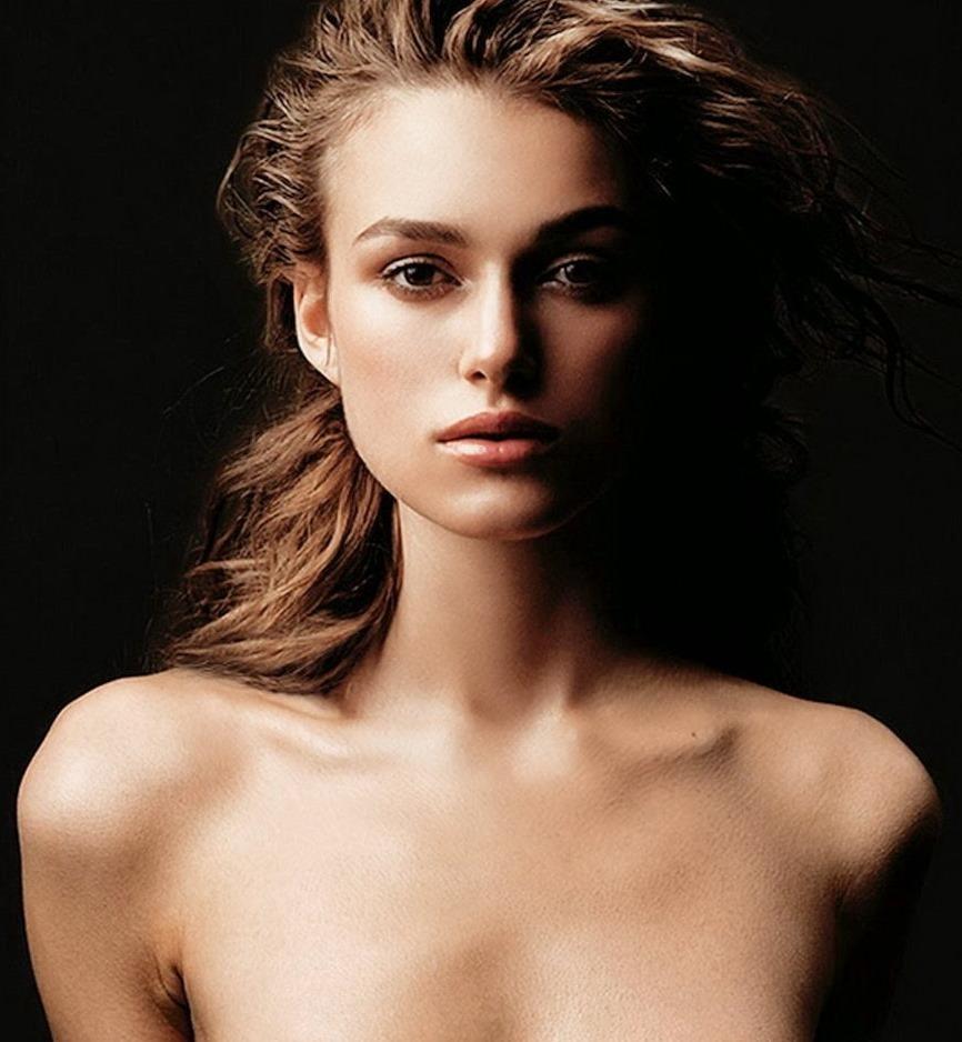 (イギリス女優のキーラ・ナイトレイ (Keira Knightley))美しい乳お乳ぬーど写真☆