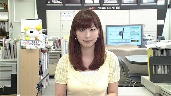 秋田が生んだ美人女子アナ塩地美澄(しおち みすみ)の着衣巨乳のテレビキャプ画像6