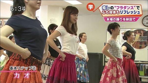 秋田が生んだ美人女子アナ塩地美澄(しおち みすみ)の着衣巨乳のテレビキャプ画像7