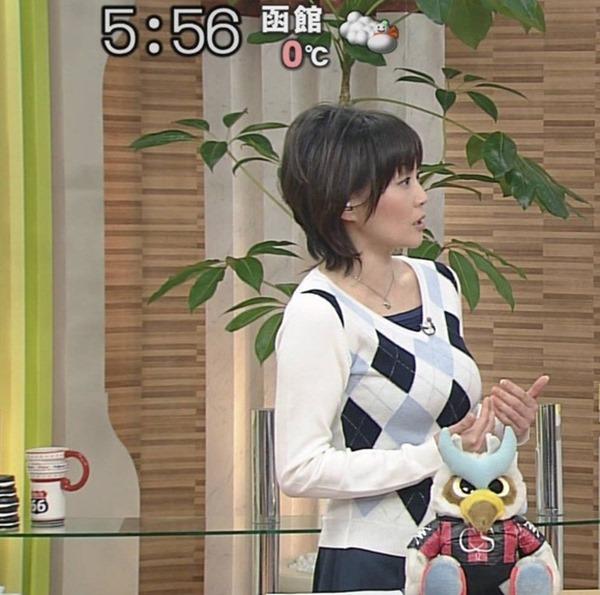 北海道・熊谷明美アナの特大おっぱいエロ画像10