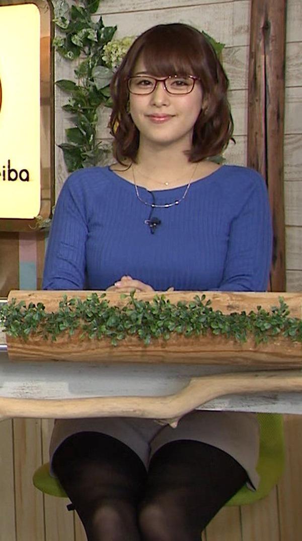 鷲見玲奈アナのむっちりしたワキ肉エロ画像11