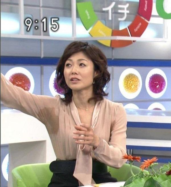 魅惑の熟女アナ有働由美子のセクシーショットエロ画像11