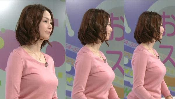 杉浦友紀アナのムッチムチ着衣エロ画像12