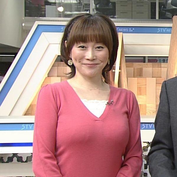 北海道・熊谷明美アナの特大おっぱいエロ画像13