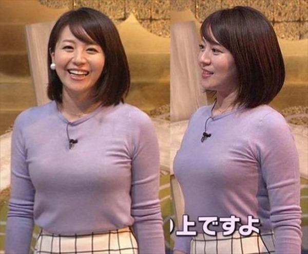 巨乳女子アナウンサーの着衣巨乳画像14
