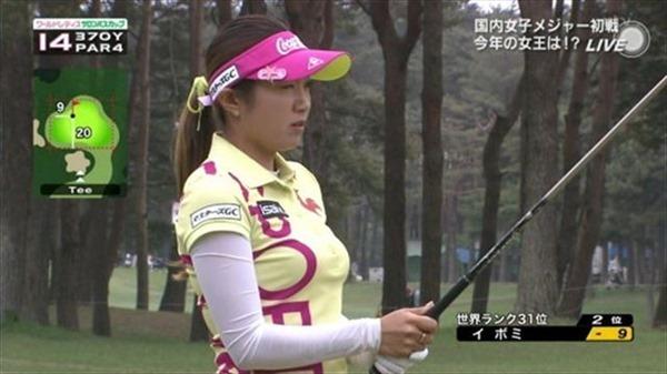 韓国出身のプロ女子ゴルファー、イ・ボミ選手のムチムチ着衣巨乳画像14