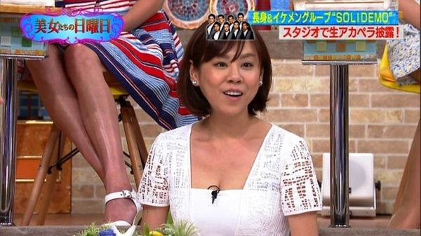 高橋真麻アナ「ぷっすま」でピチピチ衣装エロ画像16