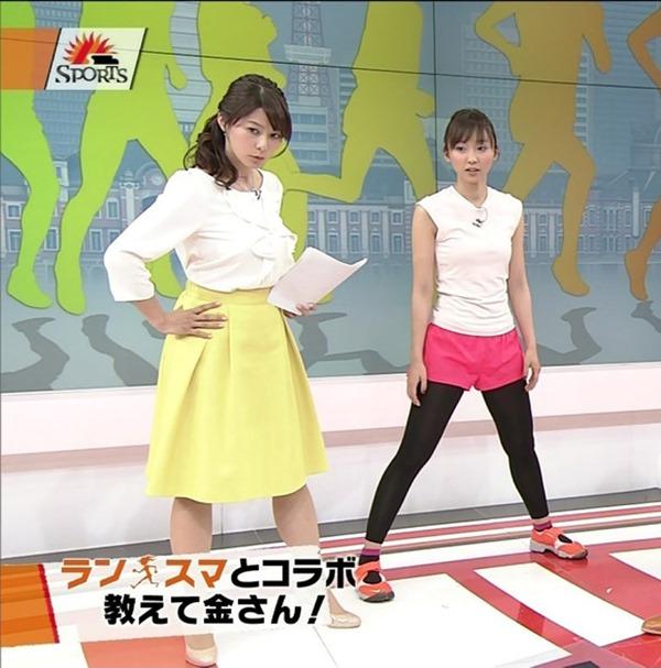杉浦友紀アナのムッチムチ着衣エロ画像16