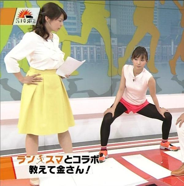 杉浦友紀アナのムッチムチ着衣エロ画像17
