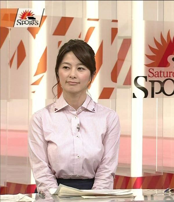 杉浦友紀アナのムッチムチ着衣エロ画像18