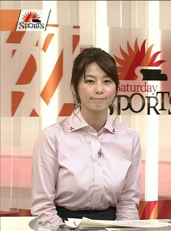 杉浦友紀アナのムッチムチ着衣エロ画像19
