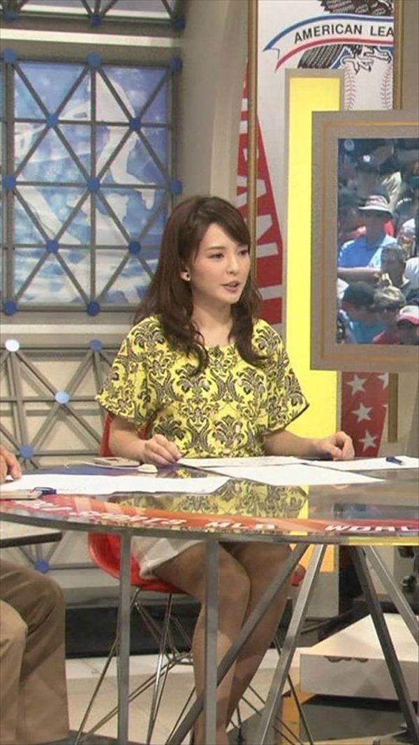 深津瑠美アナの着衣巨乳エロ画像1