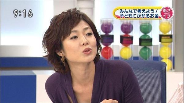 魅惑の熟女アナ有働由美子のセクシーショットエロ画像2