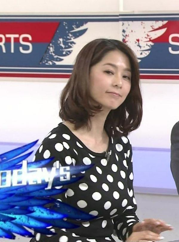 杉浦友紀アナのムッチムチ着衣エロ画像3