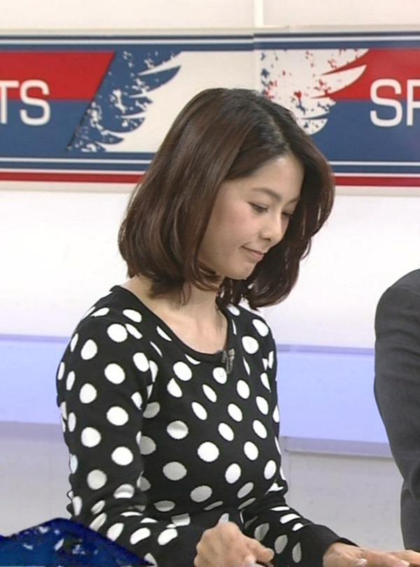 杉浦友紀アナのムッチムチ着衣エロ画像4