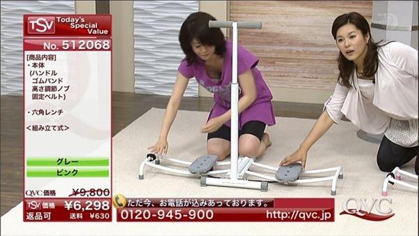 テレビショッピングの熟女キャスター達の胸チラ画像4