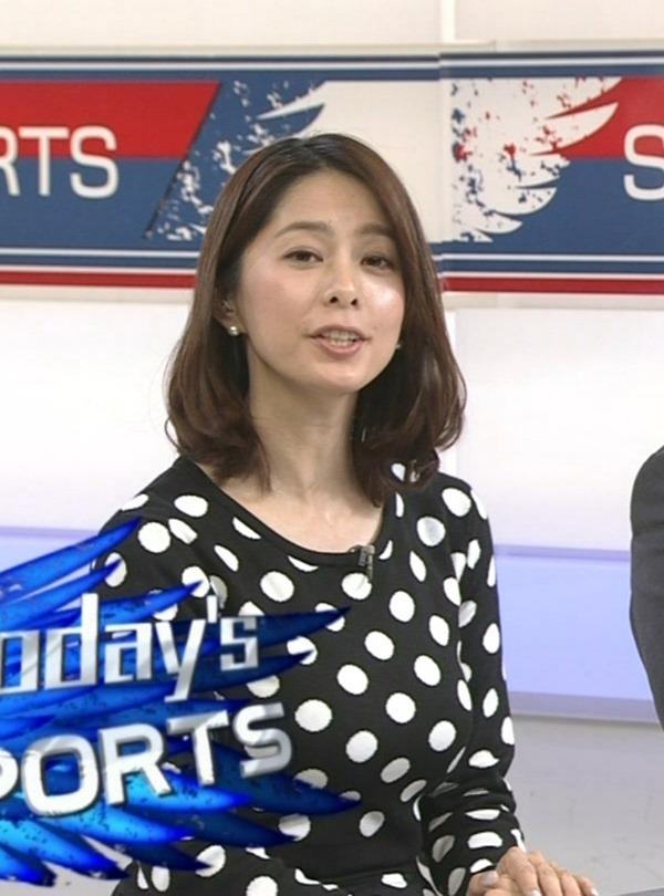 杉浦友紀アナのムッチムチ着衣エロ画像5