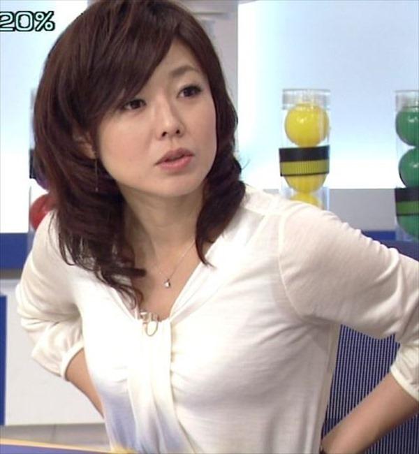 魅惑の熟女アナ有働由美子のセクシーショットエロ画像6