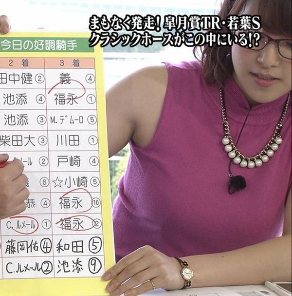 鷲見玲奈アナのむっちりしたワキ肉エロ画像9
