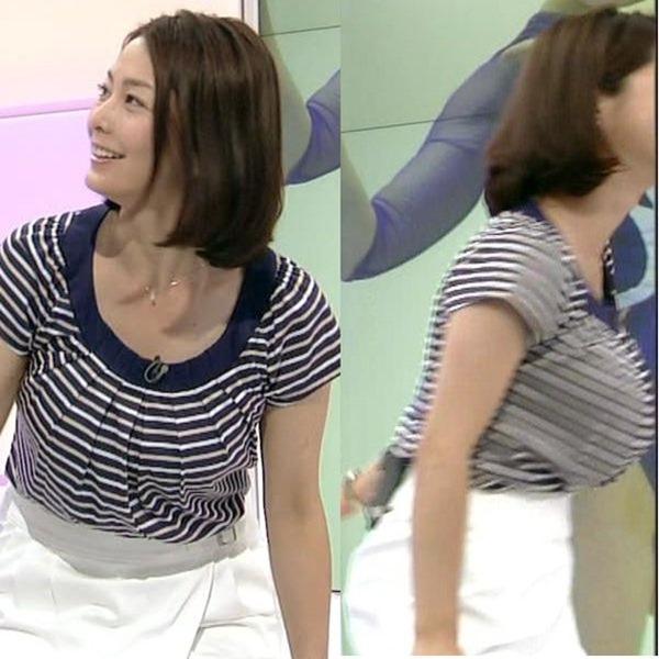 杉浦友紀アナのムッチムチ着衣エロ画像9