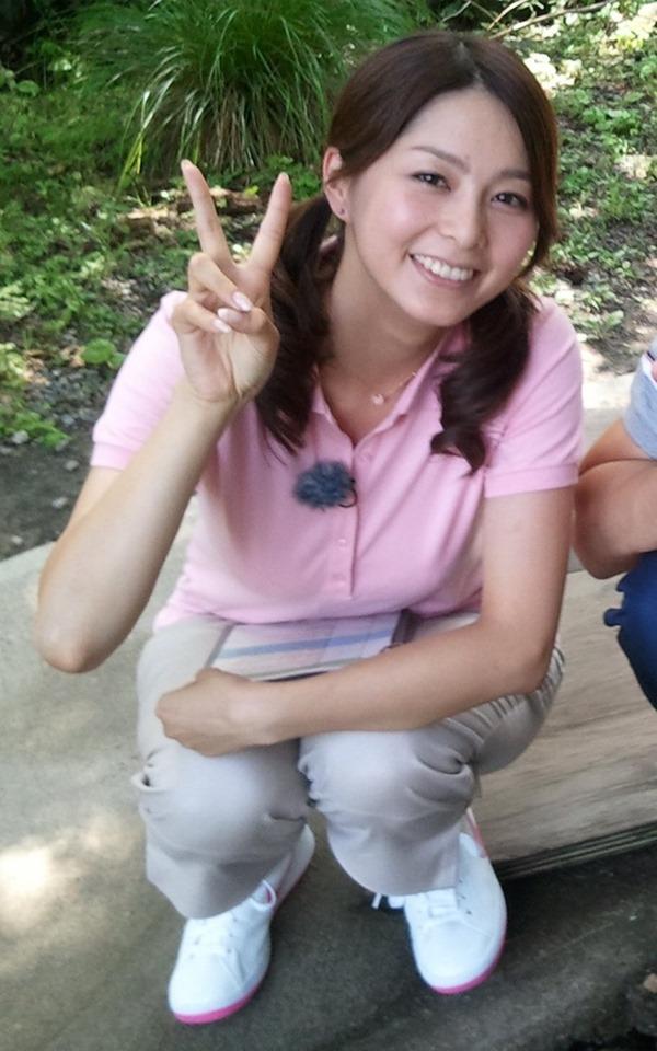 NHK杉浦友紀アナの大きい着衣横乳エロ画像14