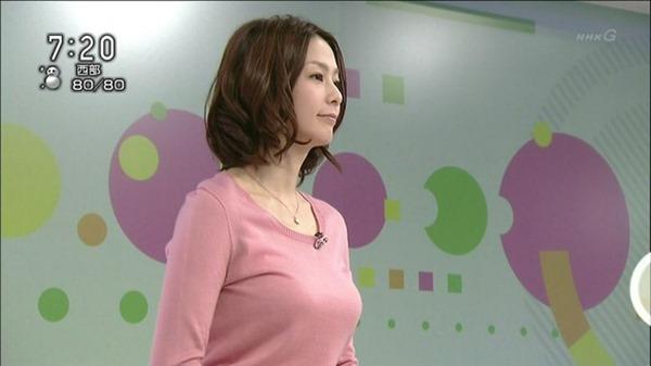NHK杉浦友紀アナの大きい着衣横乳エロ画像15