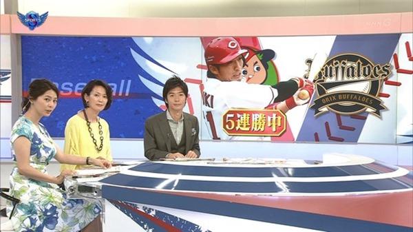 NHK杉浦友紀アナの大きい着衣横乳エロ画像4