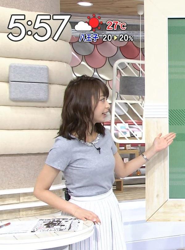 巨乳アイドル並みTBS宇垣美里アナ着衣エロ画像13