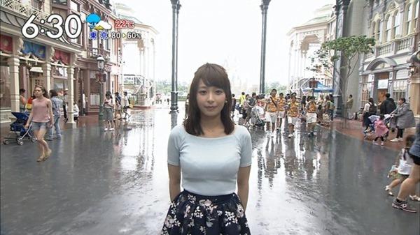 巨乳アイドル並みTBS宇垣美里アナ着衣エロ画像2