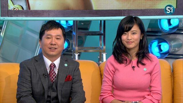(小島瑠璃子TV胸チラキャプ写真)ミズ着から美巨乳だけど愛梨ロス☆