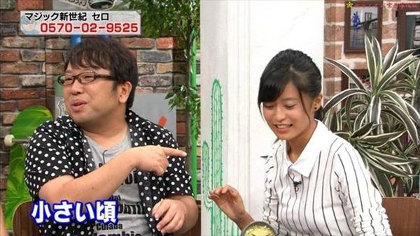 小島瑠璃子の水着姿の胸チラ谷間やTV出演時の谷間テレビキャプ画像12