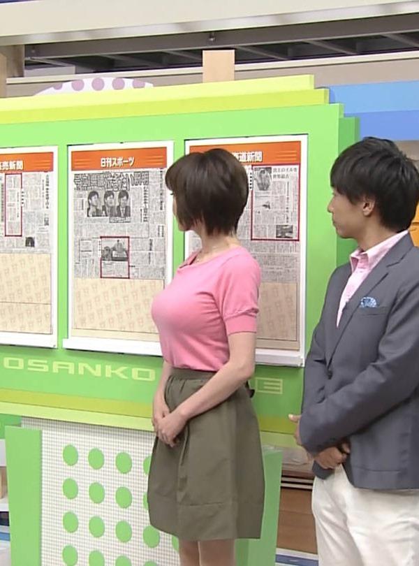 北海道・熊谷明美アナの特大おっぱいエロ画像