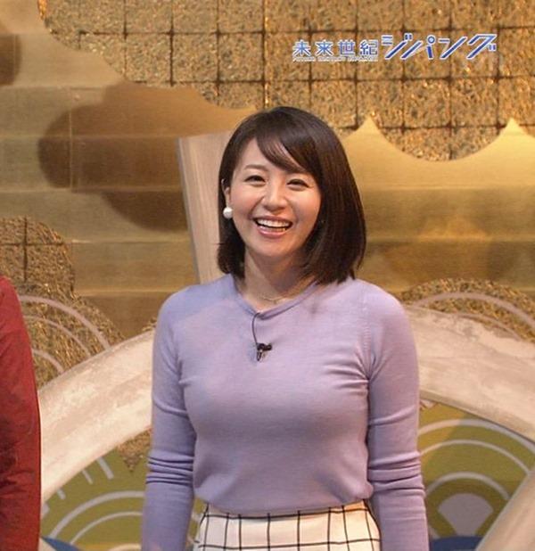 大橋未歩アナの自己主張してる巨乳エロキャプ画像