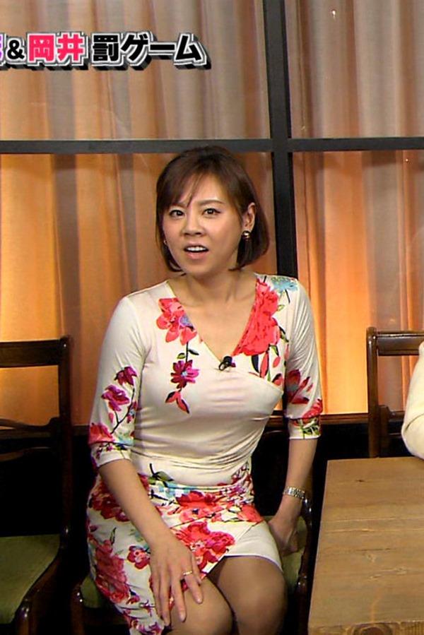 高橋真麻アナ「ぷっすま」でピチピチ衣装エロ画像