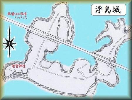 浮島城址縄張り図