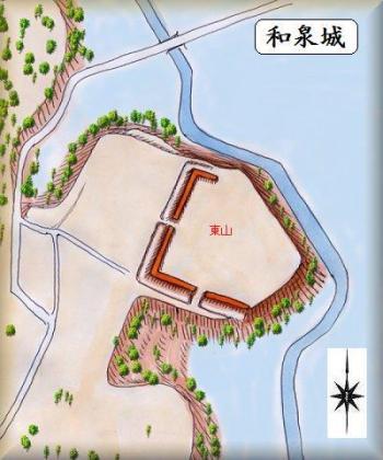 和泉城縄張り図