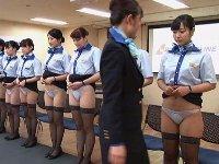 はい教官またがります!「制服・下着・全裸」でおもてなしする新人CA