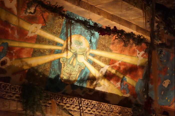TDS 2015 インディジョーンズ・アドベンチャー クリスタルスカル 壁画