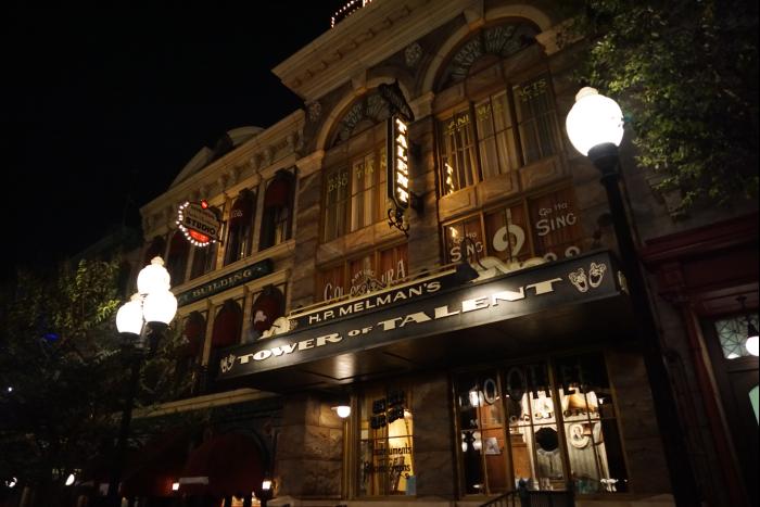 TDS 2015 アメフロ 夜景 街並み タワーオブタレント
