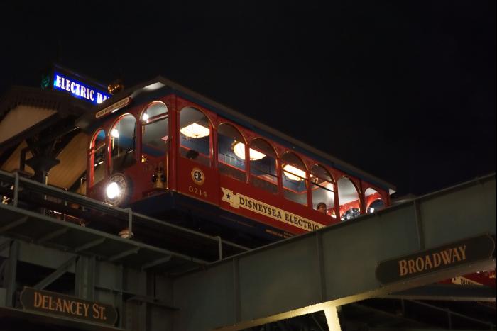 TDS 2015 アメフロ 夜景 鉄道 エレクトリックレイルウェイ