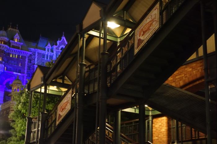 TDS 2015 アメフロ 夜景 鉄道 エレクトリックレイルウェイ タワーオブテラー